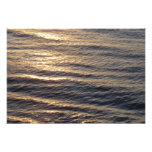 Sunrise on Ocean Waters Blue Abstract Photography Photo Print