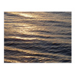 Sunrise on Ocean Waters Blue Abstract Photography Postcard