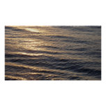 Sunrise on Ocean Waters Blue Abstract Photography Poster