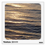 Sunrise on Ocean Waters Blue Abstract Photography Wall Sticker