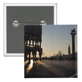 Sunrise on Plaza San Marco 2 Inch Square Button