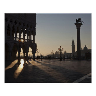Sunrise on Plaza San Marco Poster