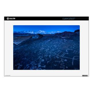 "Sunrise On Sky Rock Petroglyph And Sierra Nevada 15"" Laptop Skin"