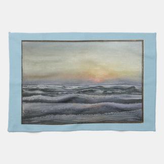 """Sunrise on South Padre"" dish towel"