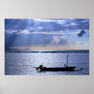 Sunrise on Sunur Beach Bali Poster