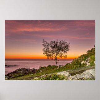 Sunrise On The Beach Armação Poster