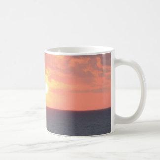 Sunrise on the beach classic white coffee mug