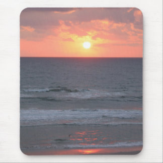 Sunrise on the beach mouse pad