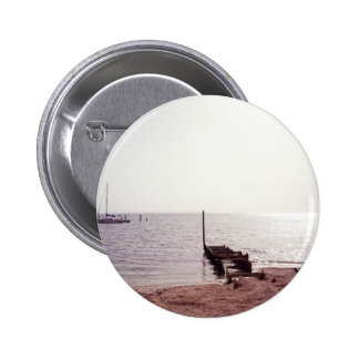 sunrise on the beach photograph pinback button