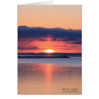 Sunrise on the breakwall card