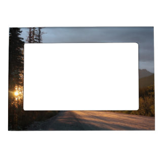 Sunrise on the Dalton Highway in Alaska Photo Frame Magnets