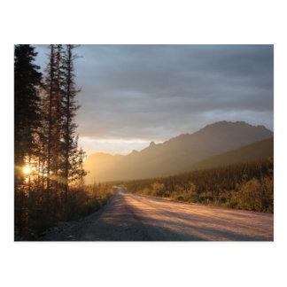Sunrise on the Dalton Highway in Alaska Postcard