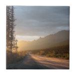 Sunrise on the Dalton Highway in Alaska Tile