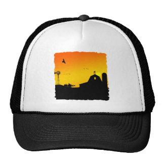 sunrise on the farm trucker hat