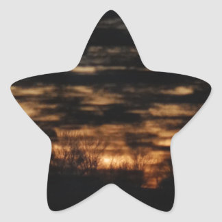 Sunrise on the go star sticker