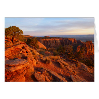 Sunrise on the Grand View Trail at CO Monument Card