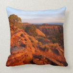 Sunrise on the Grand View Trail at CO Monument Throw Pillow