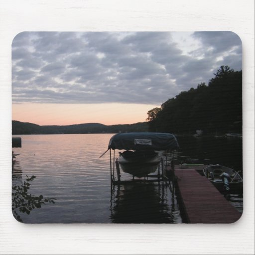 Sunrise on the lake mouse pad