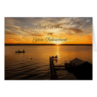 Sunrise on the Lake, Retirement Congratulations Greeting Card