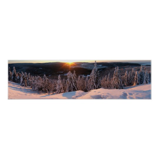 Sunrise on the mountain Ruppberg Poster