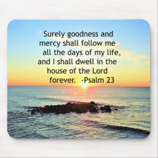 SUNRISE ON THE OCEAN 23RD PSALM PHOTO MOUSE PAD