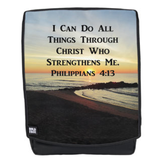 SUNRISE ON THE OCEAN PHILIPPIANS 4:13 BACKPACK