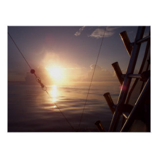 Sunrise on the ocean posters