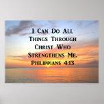 SUNRISE ON THE OCEANS PHILIPPIANS 4:13 SCRIPTURE POSTER