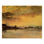 Sunrise on the river by Joseph Mallord Turner Print