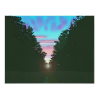 Sunrise on the Road Poster