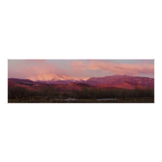 Sunrise On The Rocky Mountains Of Colorado Poster