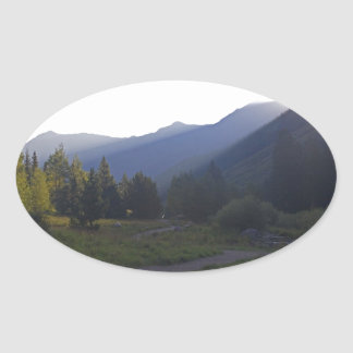 Sunrise on the Trail Oval Sticker