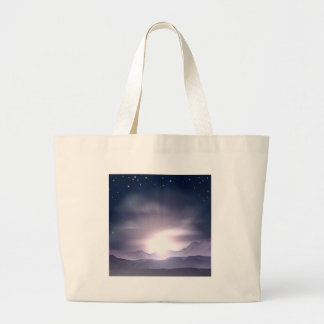 Sunrise or sunset concept tote bag
