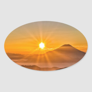 Sunrise Oval Sticker