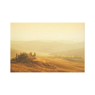 Sunrise over a landscape in Tuscany canvas