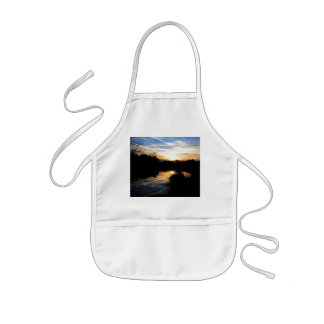 Sunrise Over a River Kids' Apron
