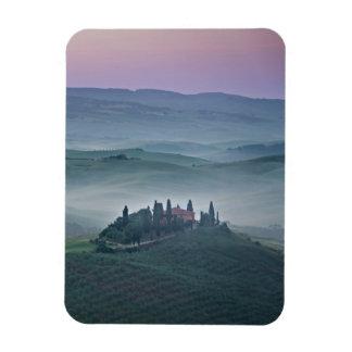 Sunrise over a Tuscany landscape vertical magnet