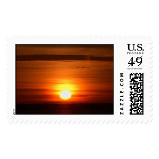 Sunrise over Amazon river Stamps