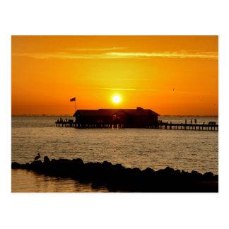 Sunrise over Anna Maria City Pier Postcard