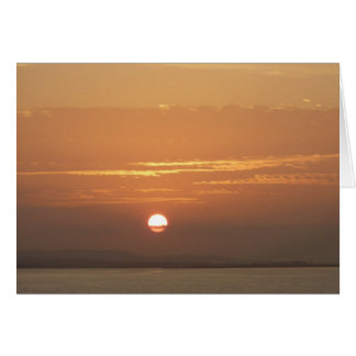 Sunrise over Aruba I Caribbean Seascape Card