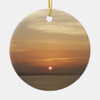 Sunrise over Aruba II Caribbean Seascape Ceramic Ornament