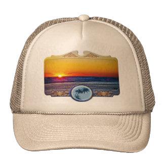 Sunrise Over Atlantic Ocean in Unique Frame Mesh Hats