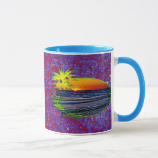 Sunrise over Atlantic Ocean Palms & Tropical Plant Mug