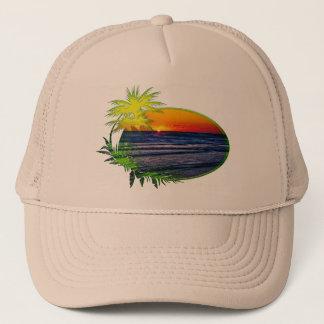 Sunrise over Atlantic Ocean Palms & Tropical Plant Trucker Hat