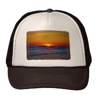 Sunrise Over Atlantic Ocean Rope Frame Trucker Hats