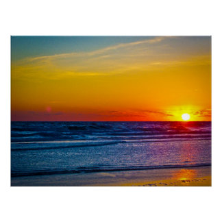 Sunrise Over Atlantic Ocean & Water Reflection III Poster