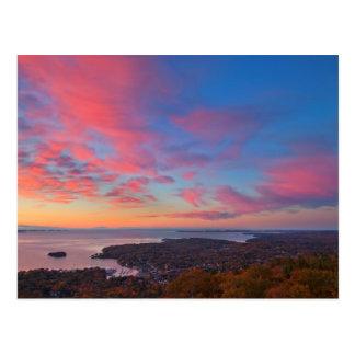 Sunrise over Camden, Maine Postcard
