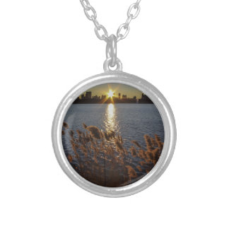 Sunrise Over Central Park, NYC Personalized Necklace