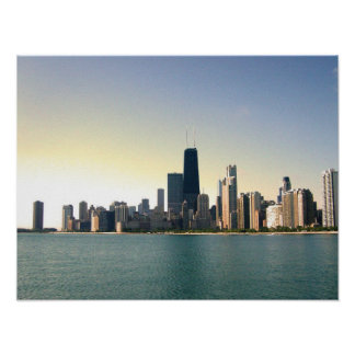 Sunrise Over Chicago Poster