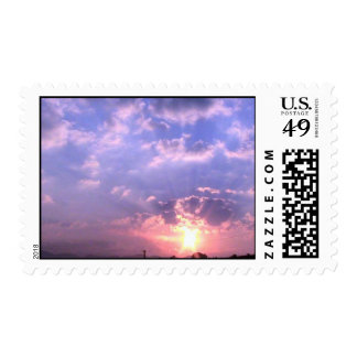 Sunrise Over Clinch Mountain In Southwest Virginia Postage Stamp